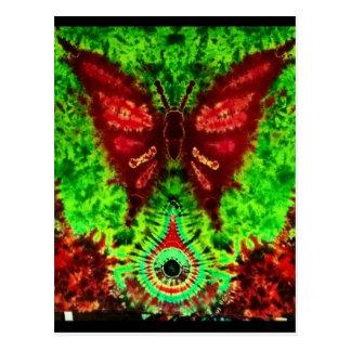 Butterfly rave postcard