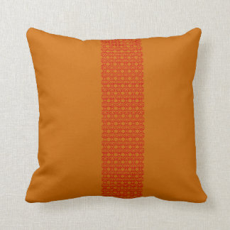 butterfly & Red with terracotta Throw Pillow