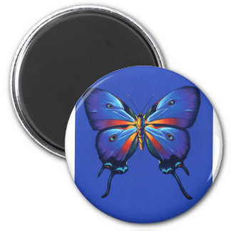 Butterfly Reflection 2 Inch Round Magnet