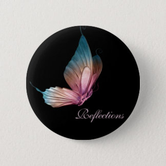 Butterfly Reflections Button