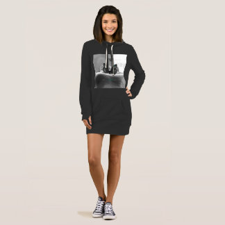 Butterfly Resting on Hand - Hoodie Dress