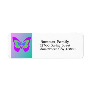 Butterfly Return Address Label