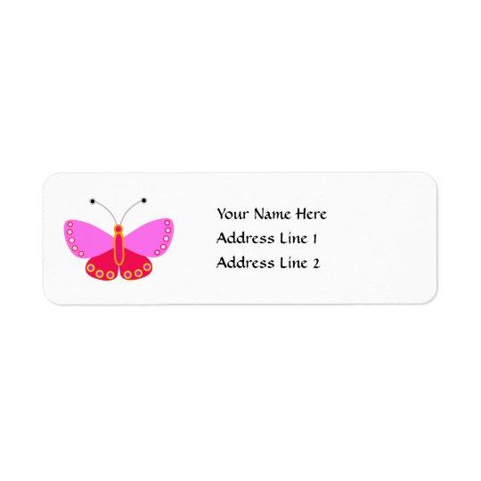 Butterfly Return Address Return Address Label