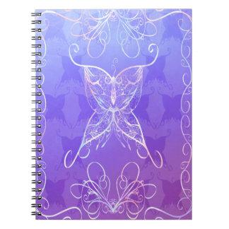 Butterfly Ribbon Spiral Notebook