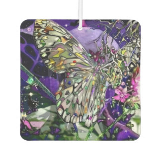 Butterfly rising to the moon air freshener