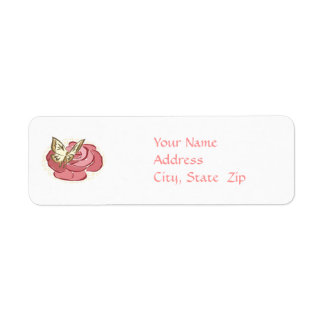 Butterfly & Rose - Address Labels