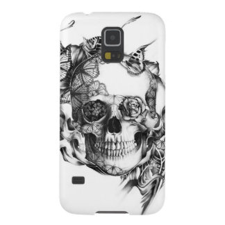 Butterfly Rose Skull from hand illustration Galaxy S5 Covers