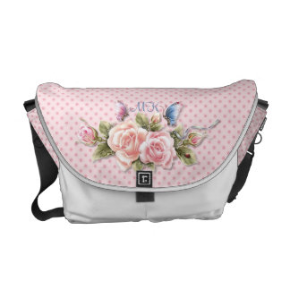 Butterfly Roses with Monogram Commuter Bags