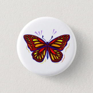Butterfly - Round Button