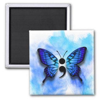 Butterfly semicolon magnet