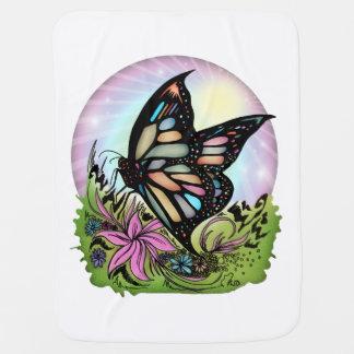 Butterfly Serenity Stroller Blanket