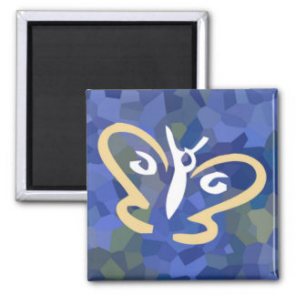 Butterfly Series 1 Square Magnet