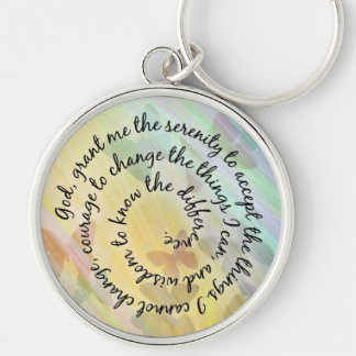 Butterfly Shadows Serenity Prayer Keychain