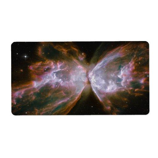 Butterfly Shaped Planetary Nebula Personalized Shipping Label