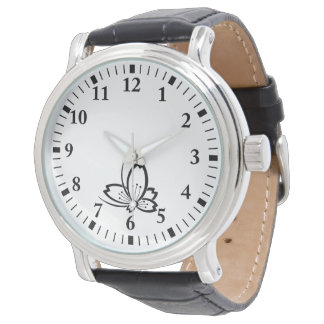 Butterfly-shaped shadowed Cherry blossom Watch
