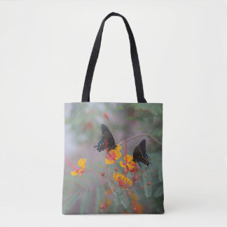 Butterfly Shopping Bag - Two Butterfly's Garden