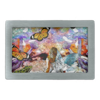 BUTTERFLY SHOW FOR FAE AND FROGS BELT BUCKLE