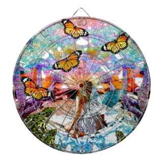 BUTTERFLY SHOW FOR FAE AND FROGS DARTBOARD