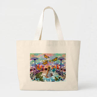 BUTTERFLY SHOW FOR FAE AND FROGS LARGE TOTE BAG