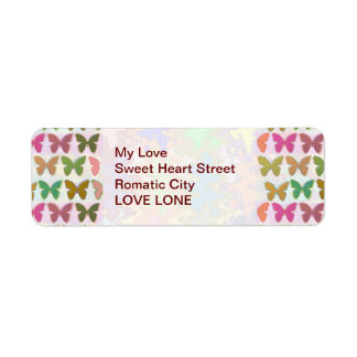 Butterfly Show Return Address Label