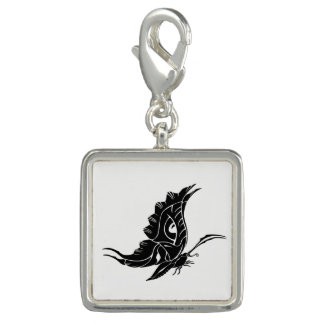 Butterfly Silhouette Charm