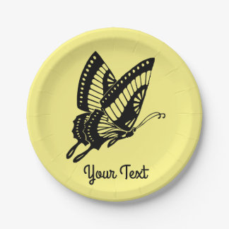 Butterfly Silhouette Paper Plate