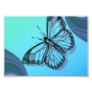Butterfly Silhouette Photo Print