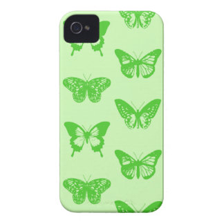 Butterfly sketch,  lime green iPhone 4 covers