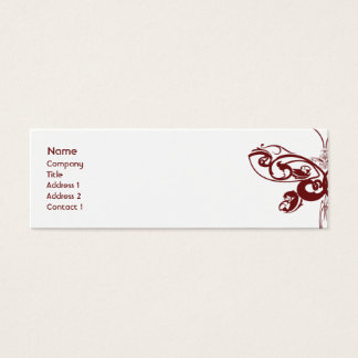 Butterfly - Skinny Mini Business Card