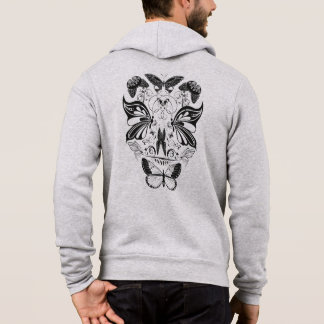 Butterfly Skull Face - black Hoodie