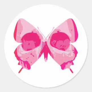 Butterfly Skull Round Sticker
