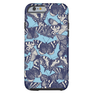butterfly sky blue tough iPhone 6 case
