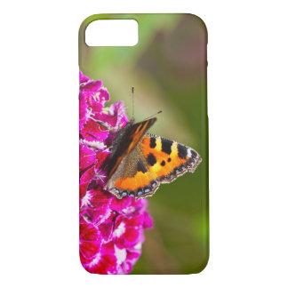 Butterfly small Tortoiseshell on Summerflower iPhone 7 Case