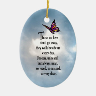 "Butterfly ""So Loved"" Poem Ceramic Ornament"