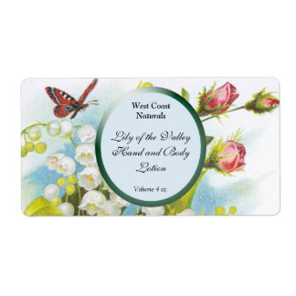 Butterfly Soap and Bath Products Label Template -  Shipping Label