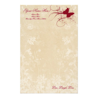 Butterfly Sparkle Personal Stationery