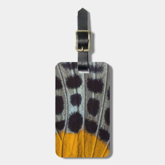 Butterfly spotted wing detail luggage tag