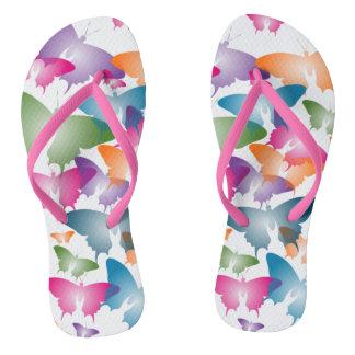 Butterfly Storm Flip Flops