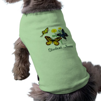 Butterfly Student Nurse Pet Shirt