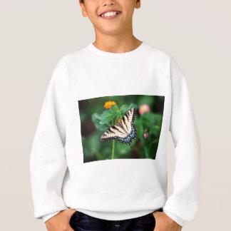 Butterfly Summer Flower Green Nature Floral Sweatshirt