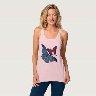 Butterfly Summer Tank Top Pink Blue Maroon
