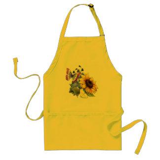 Butterfly Sunflower Garden Standard Apron