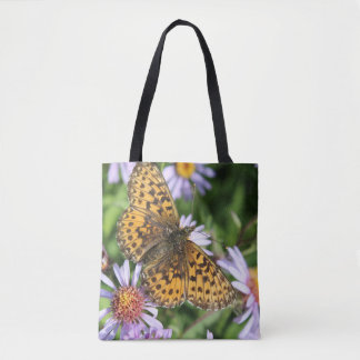 Butterfly & sunflower tote bag
