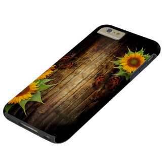 Butterfly & Sunflowers Tough iPhone 6 Plus Case