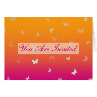 Butterfly Sunrise multi-use Invitation