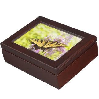 Butterfly - Swallowtail - Hard to swallow Keepsake Boxes