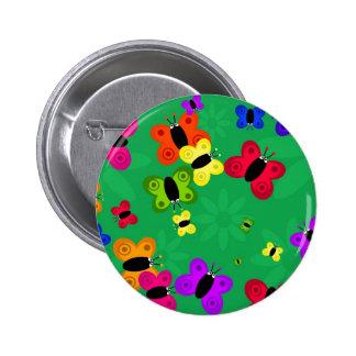 Butterfly Swarm 2 Inch Round Button