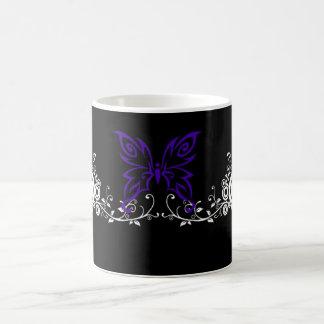 Butterfly Swirl Black Mugs