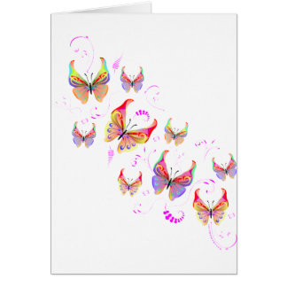 Butterfly Swirl Greeting Card