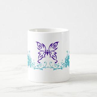 Butterfly Swirl Purple & Teal Coffee Mug